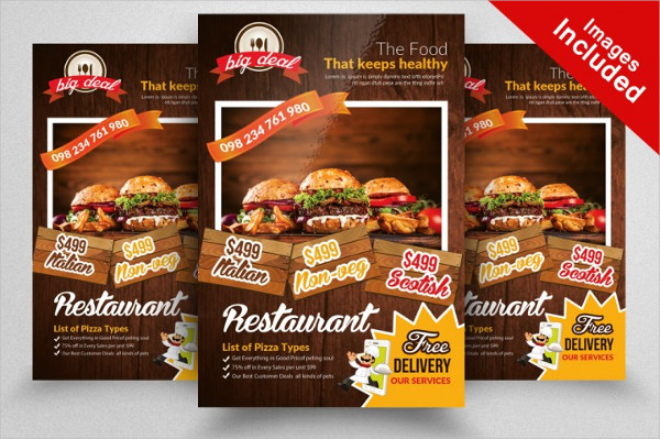 10 Professional Fast Food Flyers Bundle