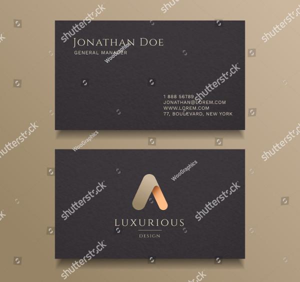 Typography Alphabet Logo Luxury Business Card Design