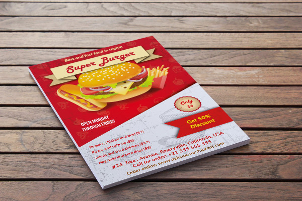 Fast Food Advertising Flyer Template