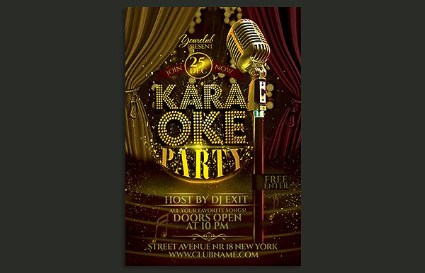 All Included Karaoke Party Flyer Template