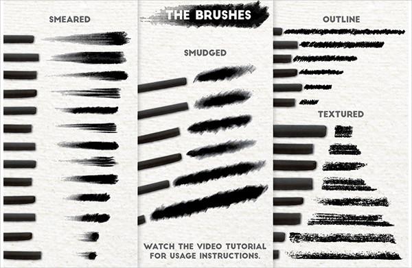 Realistic Charcoal Art Brushes