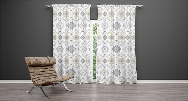 Attractive Curtains Mockup