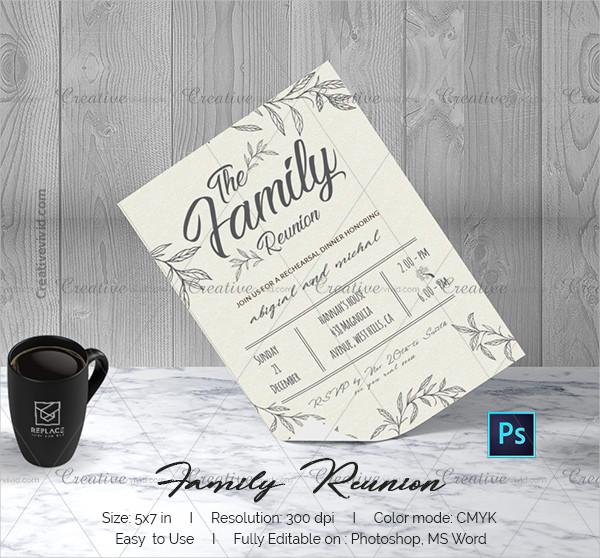 Attractive Family Reunion Invitation Template