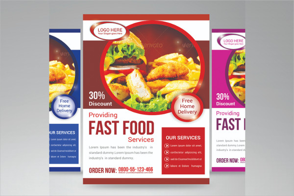 Attractive Fast Food Services Flyer Template