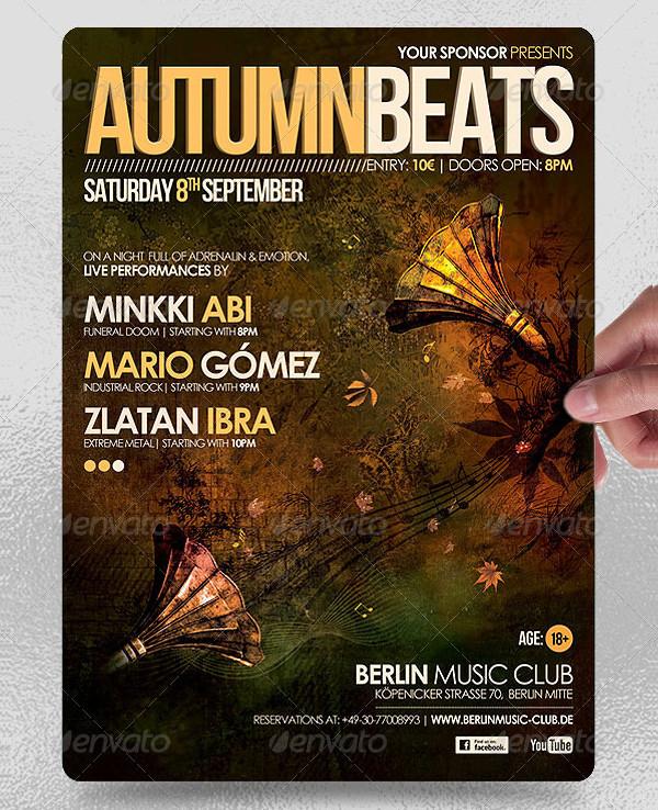 Autumn Beats Poster