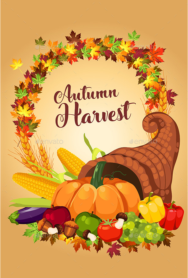 Cool Autumn Harvest Poster