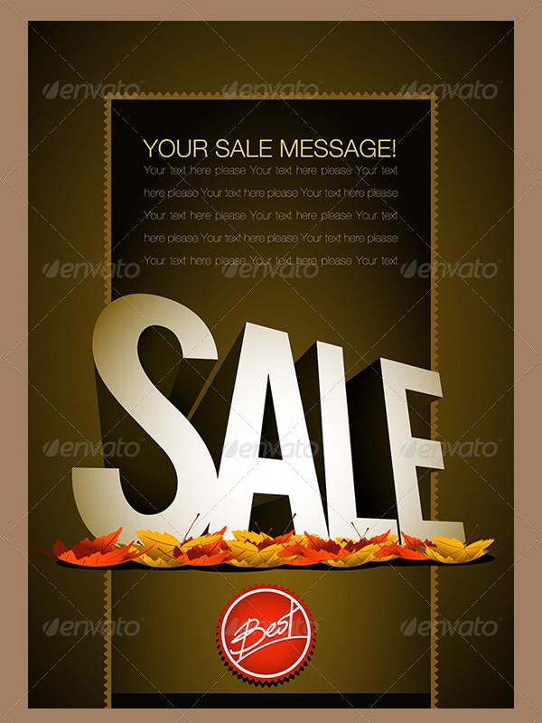 Autumn Sale Poster Design Template