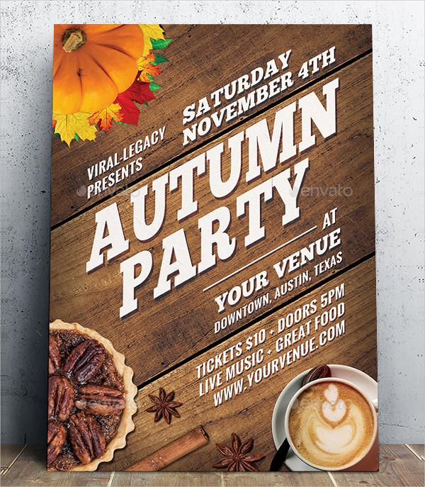 Autumn Seasonal Party Poster