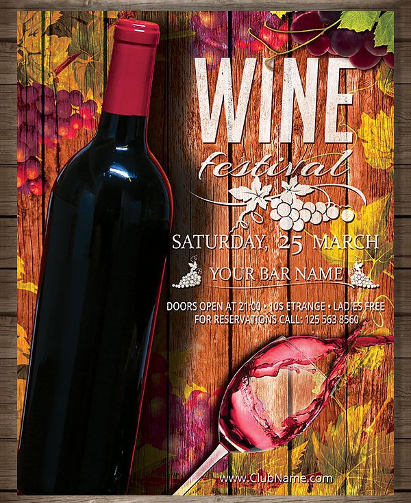 Autumn Wine Festival Poster Template