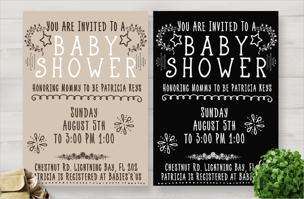 Beautiful Baby Shower Invitation Card Template