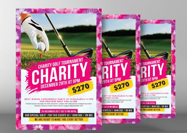 Golf Tournament Fundraiser Flyer