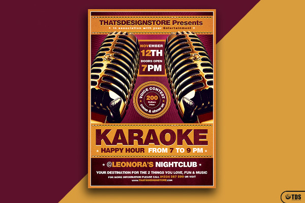 Best Karaoke Flyer Template