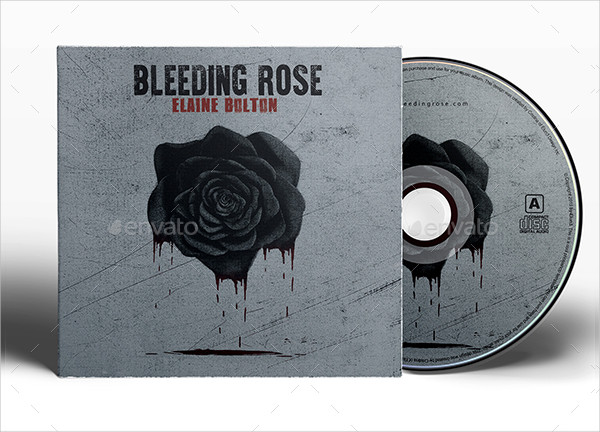 Bleeding Rose Album Cover Design Template