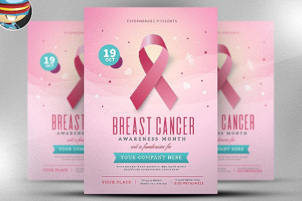 Breast Cancer Awareness Month Photoshop Flyer