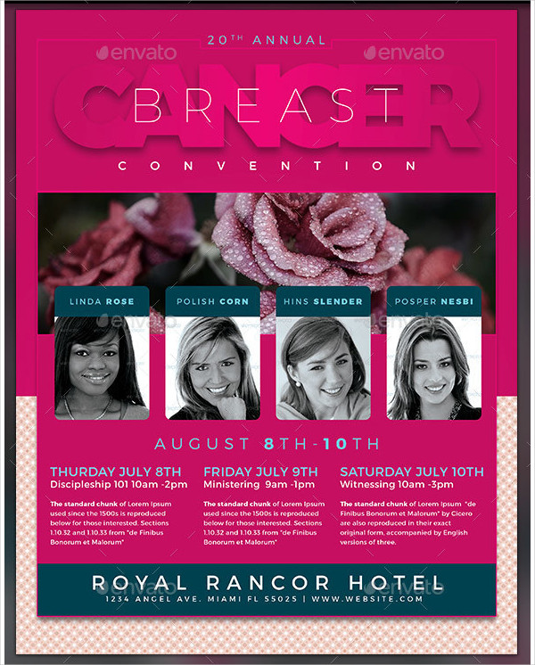Breast Cancer Convention Flyer Template