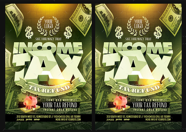 Business Income Tax Flyer Template