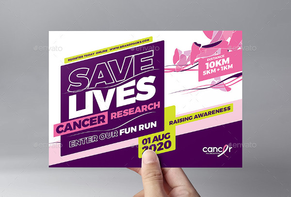 Cancer Benefit Flyer Template for Photoshop