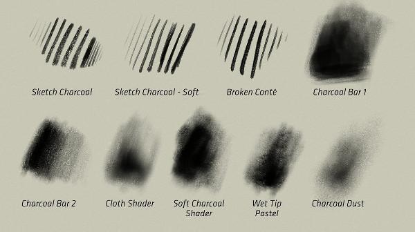 Charcoal Set - Procreate Brushes
