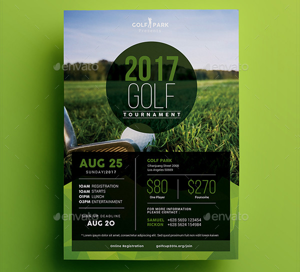 Charity Golf Outing Flyer