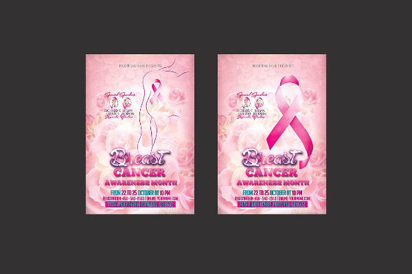 Clean Breast Cancer Awareness Flyer Template