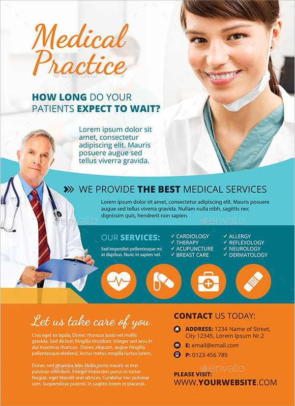 Clean Medical Clinic Flyer Design