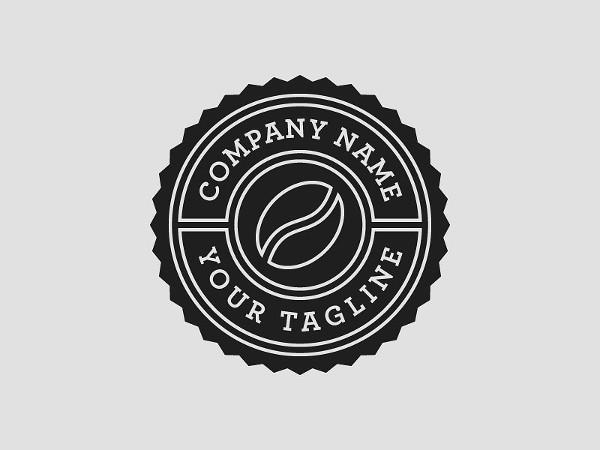 Coffee Shop Logo Template PSD