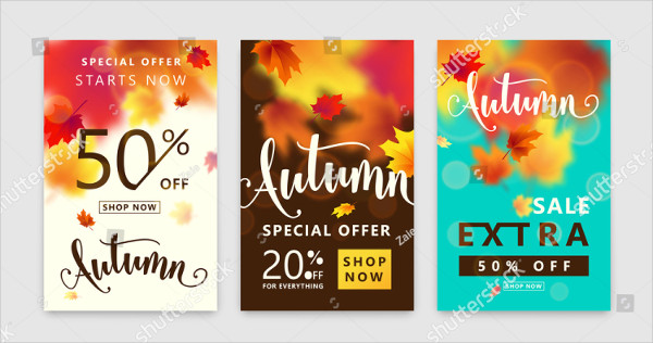 Colorful Autumn Posters Set