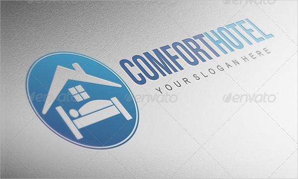 Comfort Hotel PSD Logo Design