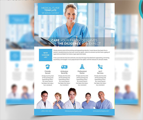 Commercial A4 Medical Flyer Template