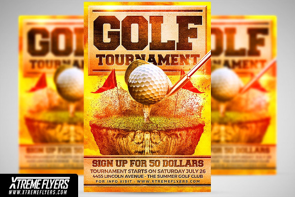 Commercial Golf Flyer Template