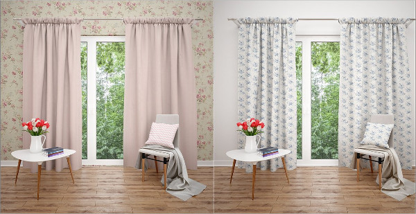 Unique Curtains Mockup
