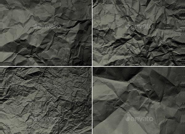 Crumpled Paper Halftone Textures