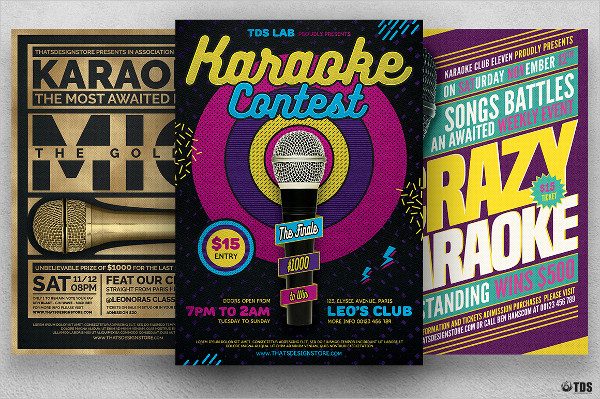 Custom Karaoke Flyers Bundle