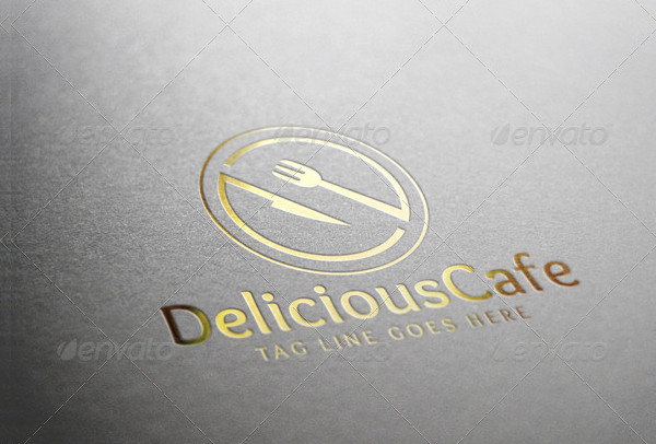 Delicious Cafe Business Logo Template