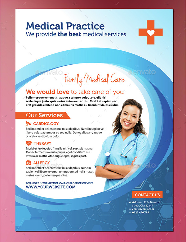 Editable Medical PSD Flyer Template