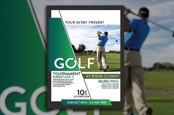 Editable Golf Tournament Flyer Template