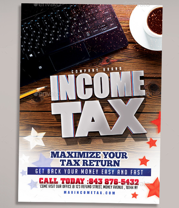 Editable Income Tax Flyer Template