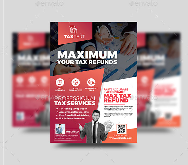 Editable Tax Refund Flyer Template