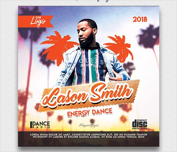 Energy Dance Free CD Cover PSD Template