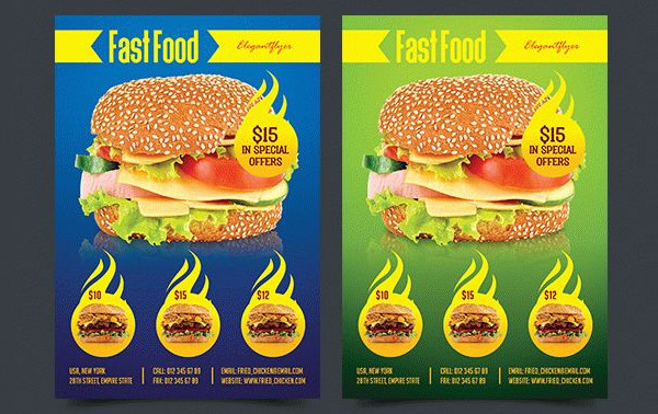 Fast Food Menu Free PSD Flyer Template