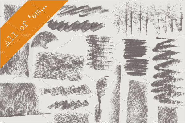 18 Fat Charcoal Brushes