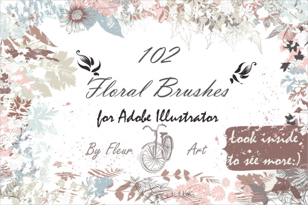 Floral Frame Brushes