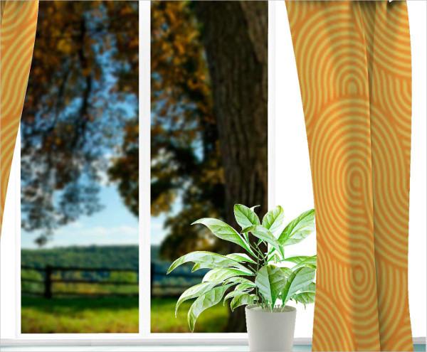 Free Mockup Curtain Presentation