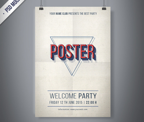 Free PSD Vintage Party Poster
