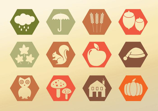 Free Set Icons Autumn