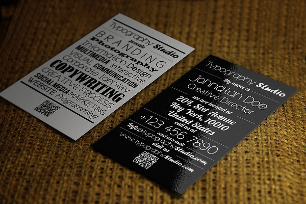Typography Vintage Business Card Template