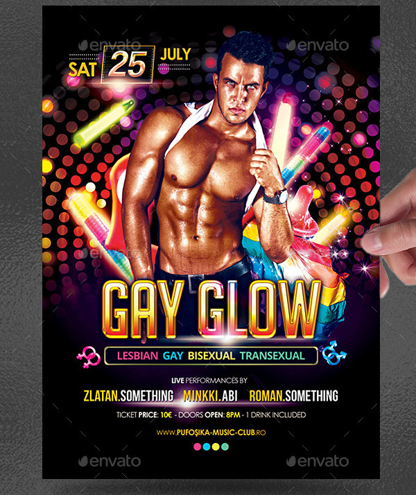 Gay Glow Flyer Template