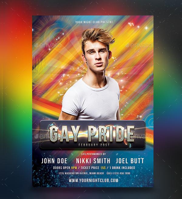 Gay Pride Flyer Design