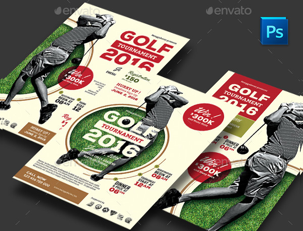 Golf Competition Flyer Template