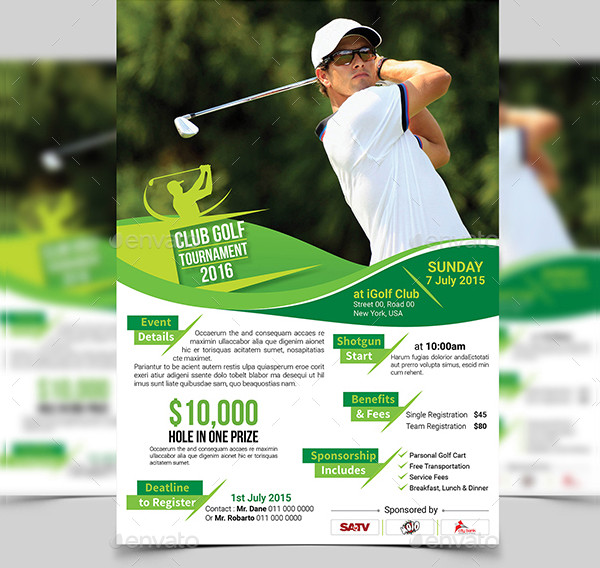 PSD Golf Tournament Flyers Bundle
